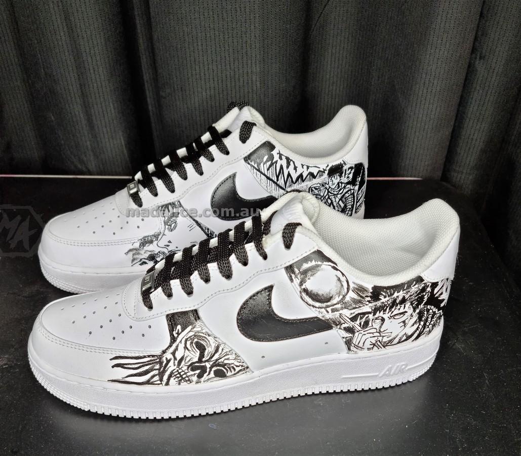 BERSERK themed custom painted shoes