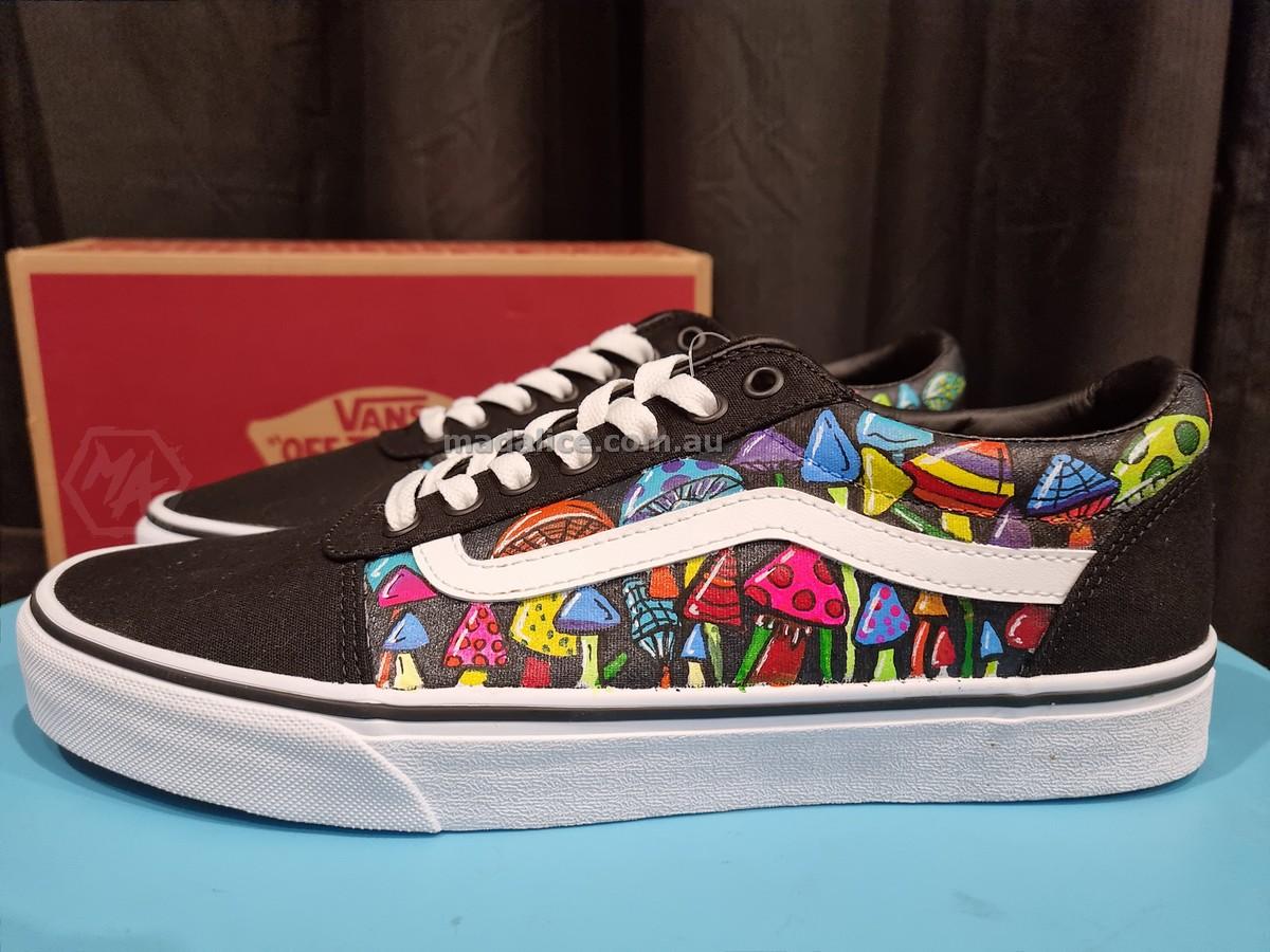 Hand painted vans mushroom shoes