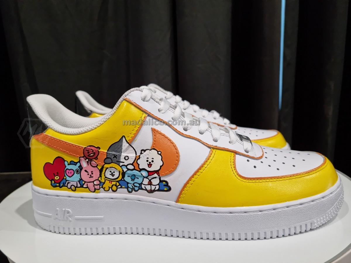 Bt21 BTS custom painted nike shoes