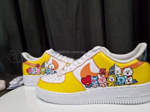 Hand painted custom shoes BT21 BTS Australia