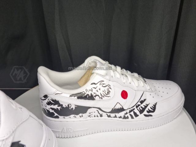 custom painted japan af1 shoes