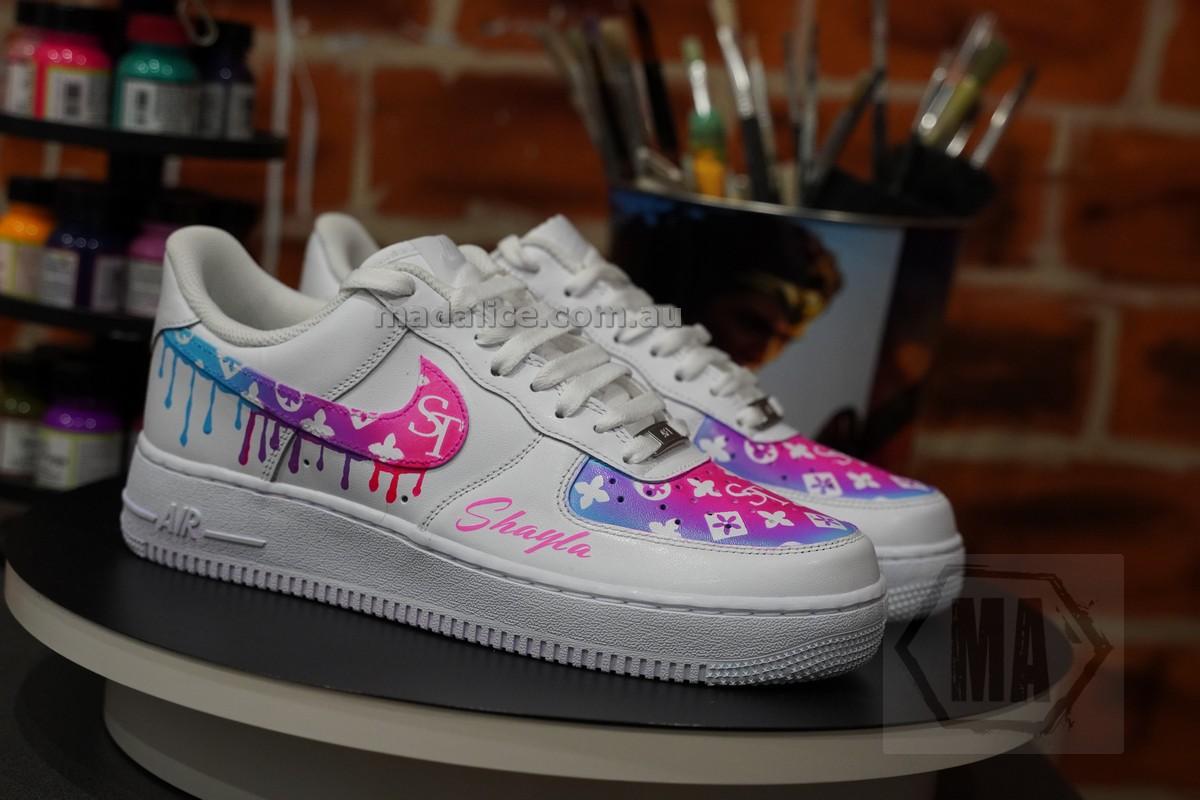 rainbow custom af1