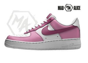 pink custom painted shoes