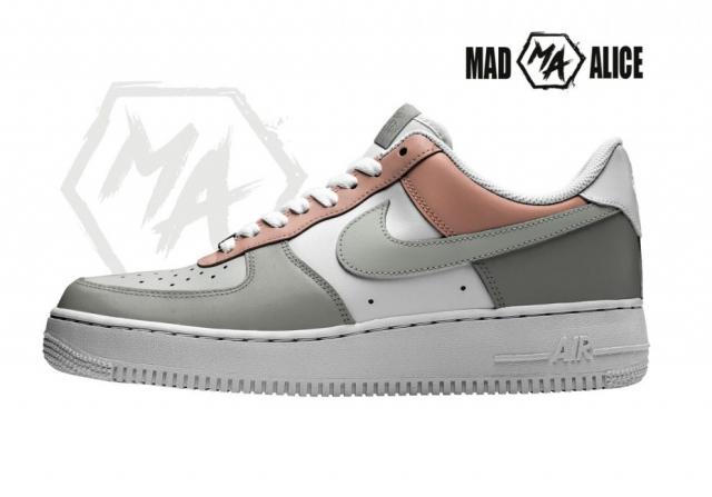 handpainted colour blocked af1 shoes