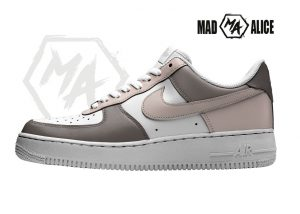 brown pastel custom air force shoes