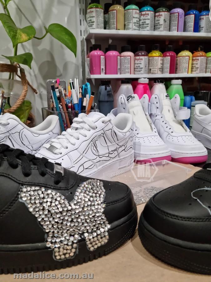 swarovski crystal custom butterfly af1 shoes