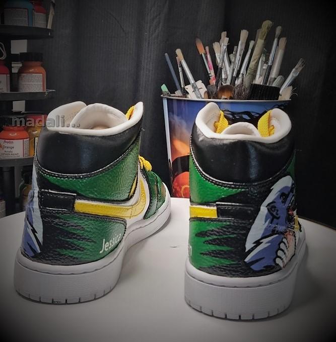 Australian paralympics custom painted shoes