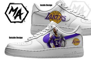 basketball lakers themed sneakers