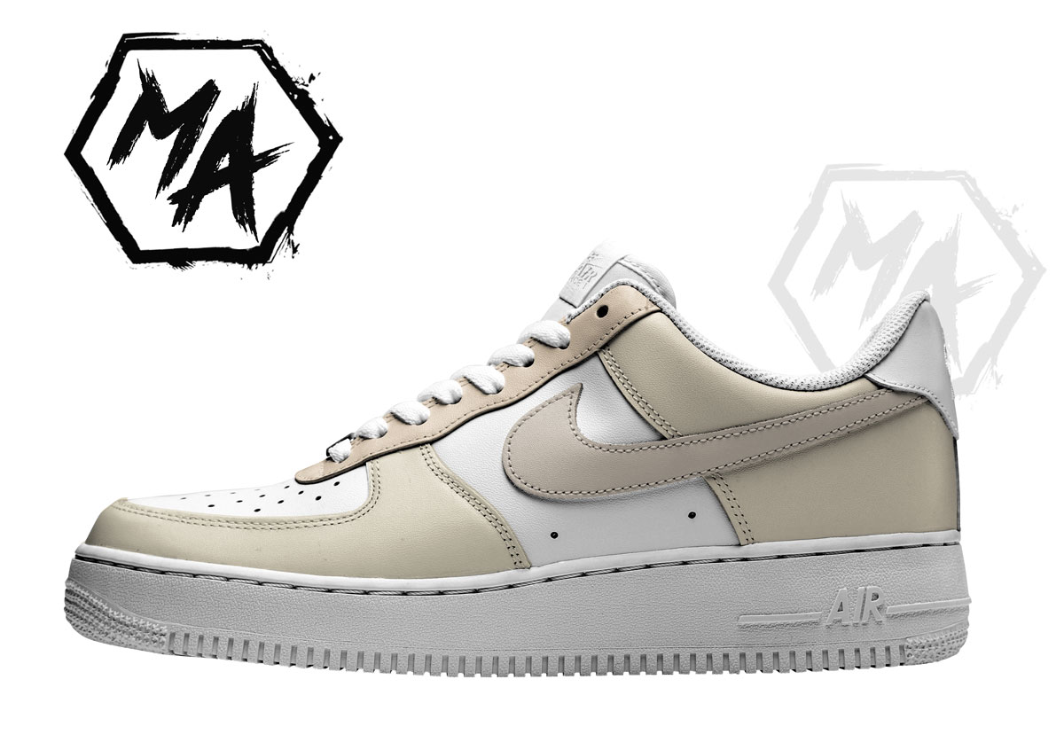 hand painted neutral af1 shoes