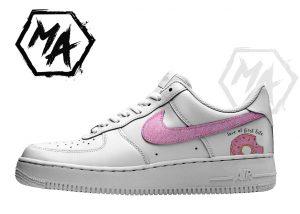 glitter donut custom shoes