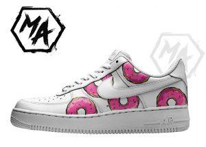 pink donut custom af1 shoes