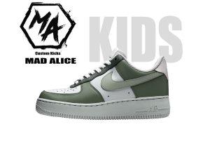 sage green kids custom shoes