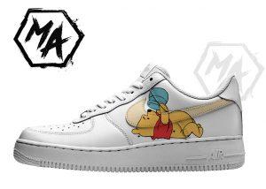 custom cartoon bear shoes