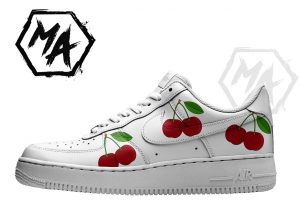 cherry custom shoes