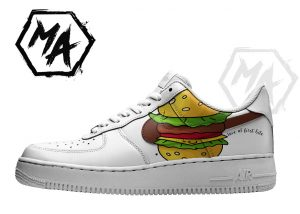 hamburger custom shoes