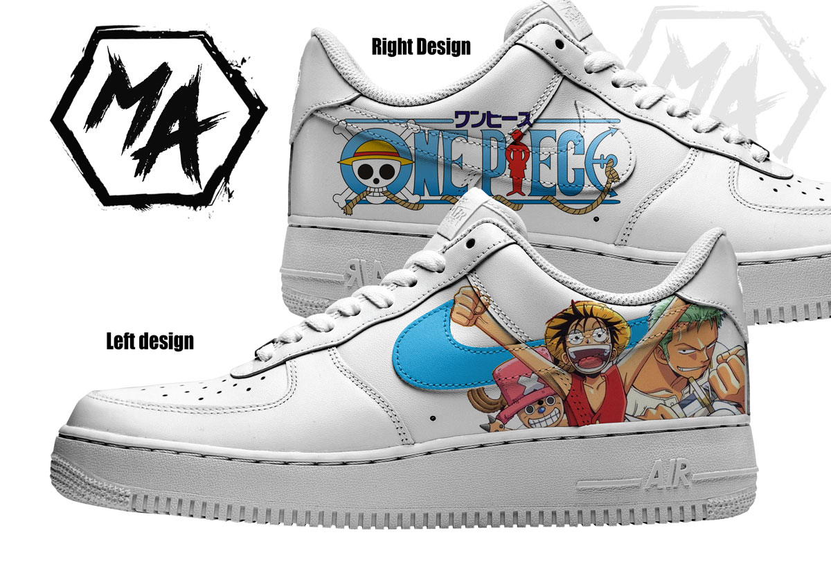 one piece custom air force shoes